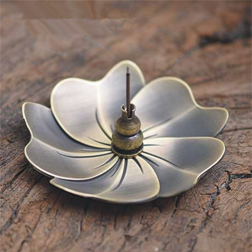 1pcs creative home decor lotus plum blossom alloy censer for Creative home decorations reviews