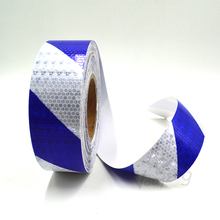 Blue/White Dual color arrow safety self adhesive warning tape with high visibility  Free shipping