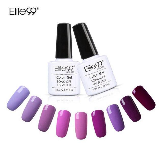 Elite99 UV esmalte de uñas Bling brillante superficie del Gel ultravioleta del clavo Salon Art Nails LED empapa del Gel de larga duración UV Nail Art polaco