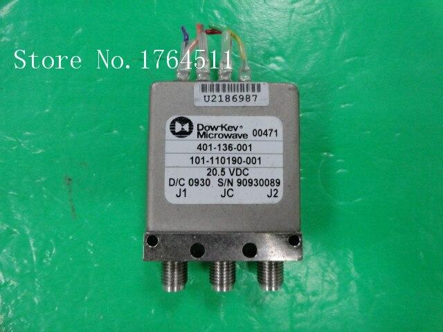 [LAN] DOW-KEY 401-136-001 DC-18GHZ 20.5V SMA RF coaxial switch  --2pcs/lot