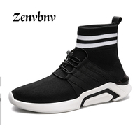 ZENVBNV 2017 Men S Shoes Casual Shoes Fashion Fly Weave Breathable Lightweight Man Shoes Comfortable Soft