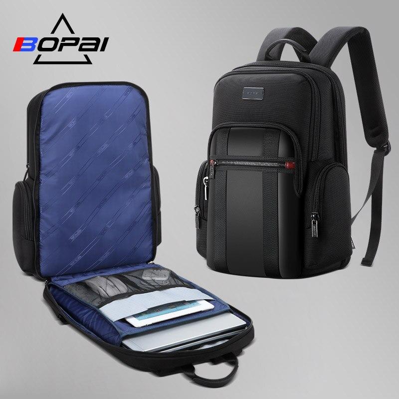 BOPAI mochila hombre Nouveau Hommes Sac À Dos Pour 15.6 pouces sac à dos pour ordinateur portable de Grande Capacité sac à dos pour étudiants décontracté D'affaires sac à dos
