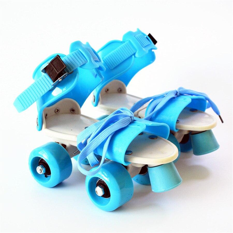 EUR taille 18-32 réglable enfants patins à roulettes 6 couleurs Double rangée 4 roues chaussures de patinage enfants deux lignes jouet Patines cadeaux