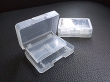 100 pcs/lot Clear Plastic Memory Card Case Holder for 4 SD 1 CF Card Storage Box Backpacker EDC Tool