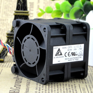 Image 1 - The original Delta 6056 double motor 6CM high speed turbo fan violence 12V 1.92A GFC0612DS cooling fan Free Shipping