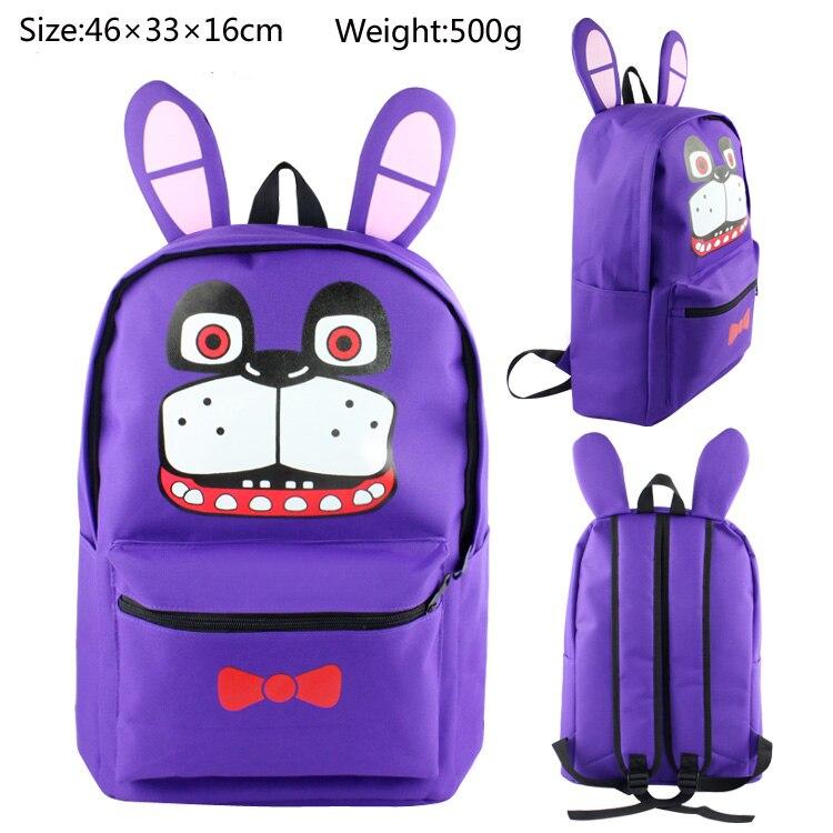e2fe6cb647 Five Nights At Freddys Backpack For Teen Bonnie Fazbear Foxy Freddy Canvas Backpack  Boys Girls School