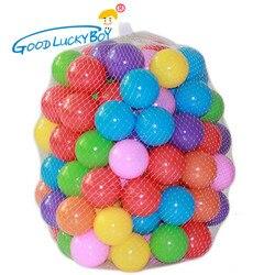 100 pcs/lot Umweltfreundliche Bunte Weiche Kunststoff Wasser Pool Ocean Wave Ball Baby Lustige Spielzeug Stress Air Ball Im Freien spaß Sport Heißer