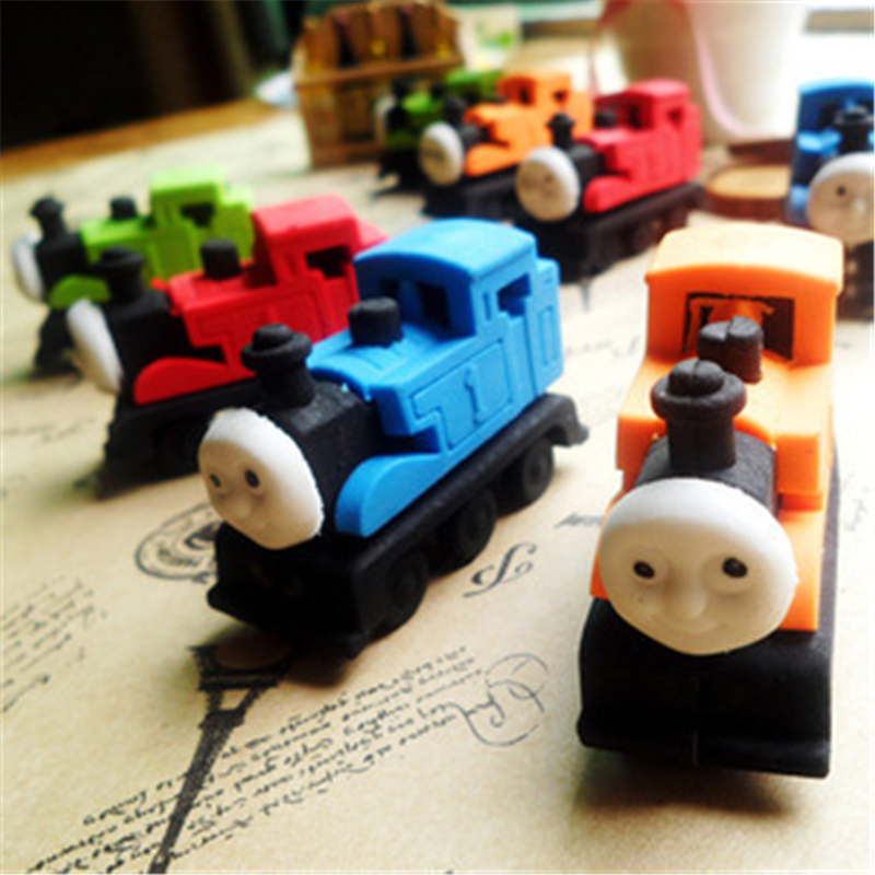 DL Thomas Train Modeling Eraser Small Train Rubber Pupil Students Stationery Products Wholesale Student Creative