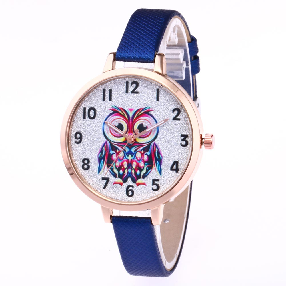 Girl Cute Watches Student Lovely Bracelet Watches Owl Pattern Quartz Wrist Watch Casual PU Leather Strap Watches Gifts  LL@17