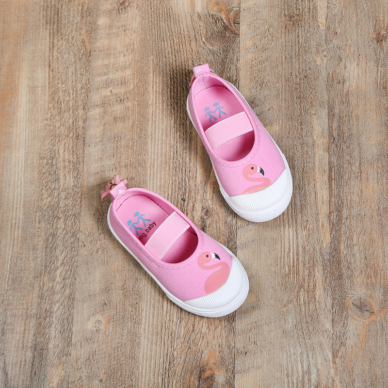 Girls Pink Shoes Cute Bunny Swan Princess Flats Slip on Moccasins with Tassels on Back Kids