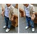 boy clothes Suit Shirt+Jackets+Jeans Baby Boys Clothes For Kids Design kids boy clothes set 2016