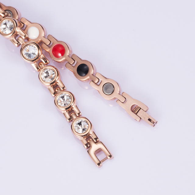 Rose Gold Bio Magnetic Crystal Bracelet