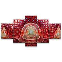 no frame HD Print 5 pieces tool alex grey canvas painting living room decor canvas painting modern home decor wall art picture(China)