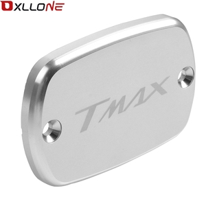 Image 2 - Motorcycle Accessories Aluminum Brake Fluid Fuel Reservoir Tank Cap Cover For Yamaha Tmax530 2012 2013 2014 2015 2016 with logo