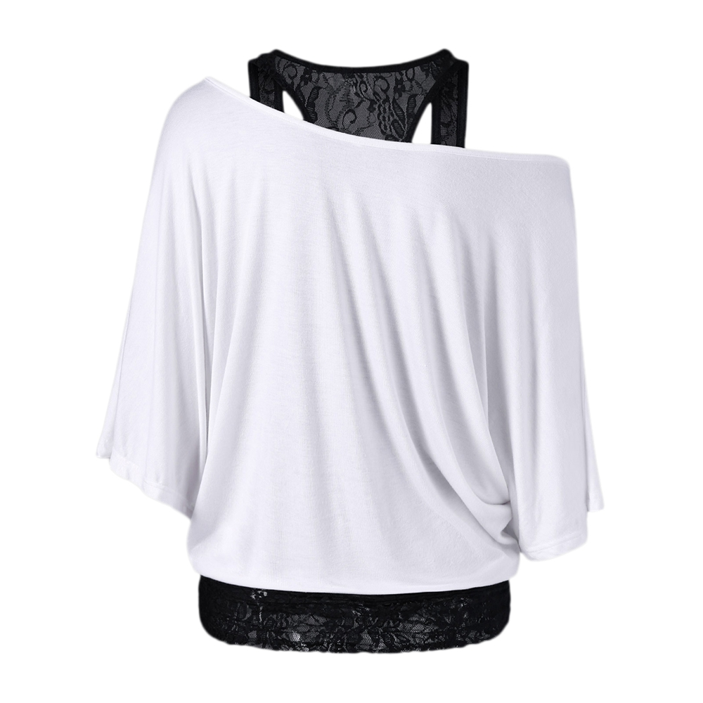 HTB16URvQFXXXXcZaXXXq6xXFXXXG - Skew Collar Short Sleeve Solid Womens Clothing T-Shirt