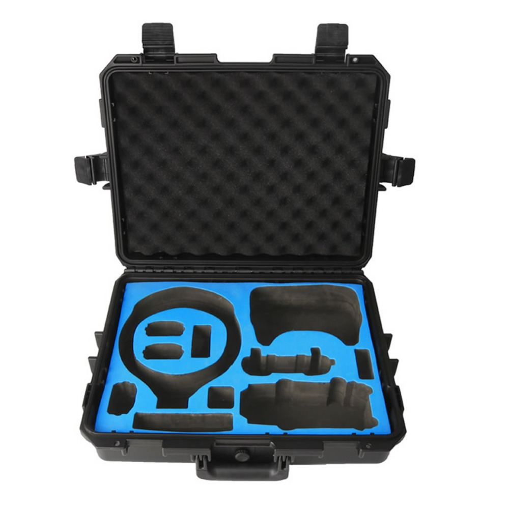 Travel Security Transport RC Drone Hardshell Suitcase For DJI VR Flight Glasses + Mavic Pro Or Spark Storage Box Waterproof Case safety transport travel hardshell drone case for dji goggles vr glasses mavic pro bag for dji spark box storage accessories