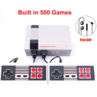 Retro Childhood Mini TV Handheld Video Game Console Upgrated For Nes Games Built in 500 Different Game PAL+NTSC dual gamepad