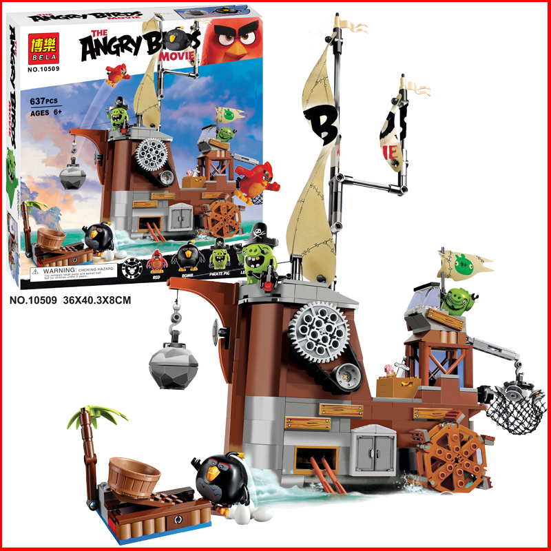 637 adet BELA Rio Macera klasik sahne yeniden Çılgın Kuşlar Yeşil Domuz minifigures Yapı Taşları set model oyuncaklar çocuklar için