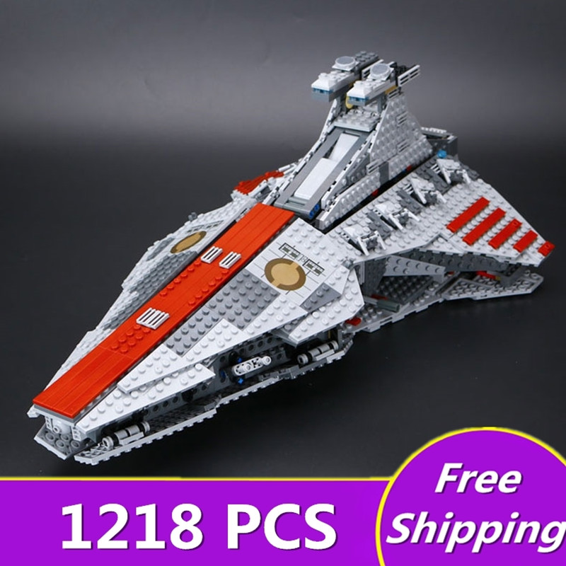 Lepin 05042 Star Series Wars The Republic Fighting Cruiser Set Building Blocks Brick Educational Toys for Children DIY 8039 Gift lepin 6125 stucke star classic modell wars die ucs st04 republic cruiser educational building blocks bricks spielzeug mode