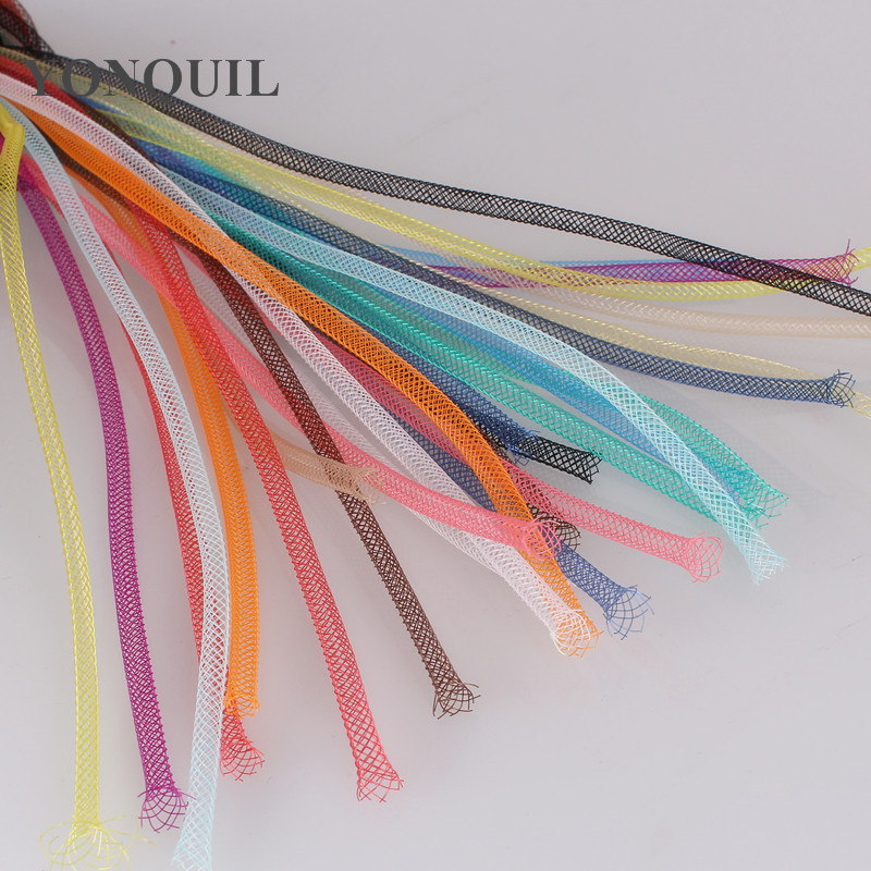 Non-Metallic 4mm Tubular Horsehair Crinoline Tube Crin Braid Trimming For  Hair Accessories100yards/lot  Multiple Colors