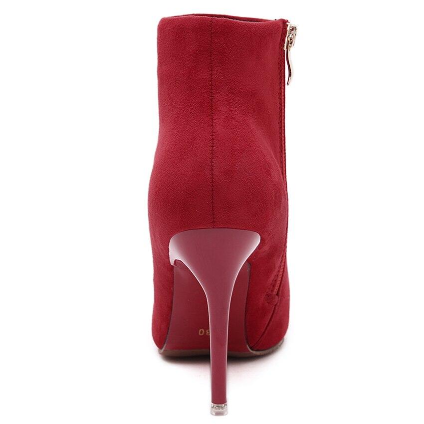 Mariage Zip Violet Mode Toe 2 Point Mince Femmes Automne Orange Bleu 2018 1 De Gris Botas Hiver Talons Bottes Haute Rose Mujer Rouge nXqSFn0