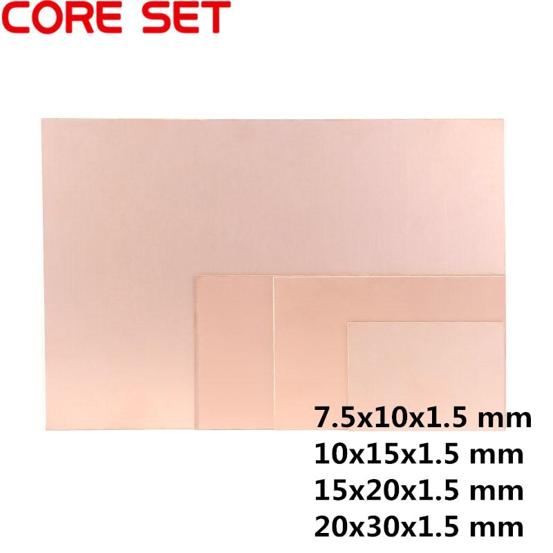 1 шт. многослойная Двусторонняя пластина с медным покрытием, CCL 10x15 15x20 20x30 1,5 мм FR4, универсальная плата, тренировочная печатная плата