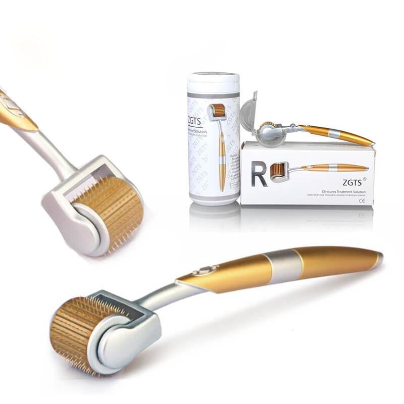 ZGTS Dermaroller 192 Titanium Micro Needles Derma Roller for Facial Nose Body Skin Care Professional