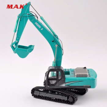 1/50 Scale SK-350 Light Blue Diecast Excavator Truck Car Vehicles Diecast Model Collection Diecast caterpillar cat m316d wheel excavator 1 50 model by diecast masters 85171
