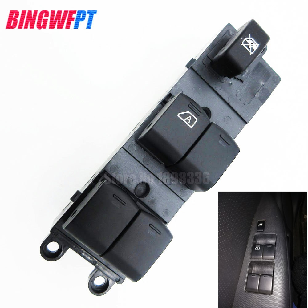 25401-JD001 25401JD001 Master Electric Power Window Lifter Switch For Nissan Navara D40 2004-2016 For Qashqai J10 2.0 dCi 4WD for nissan tiida lhd 2011 2014 front left driver side electric switch car window master button 25401 3df0b