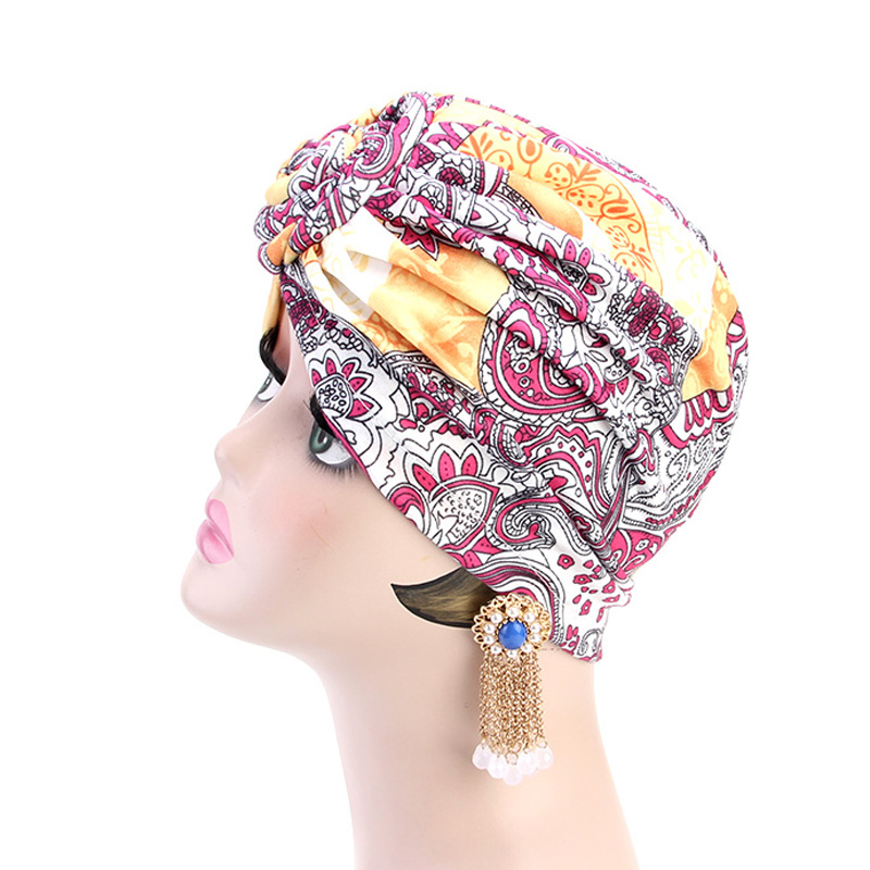 New Knotted Turban Hat for Women Twist Knot India Hat Ladies Chemo Cap  Muslim turban Fashion Headbands Women Hair Accessories-in Hair Accessories  from ... f5288351b6d3