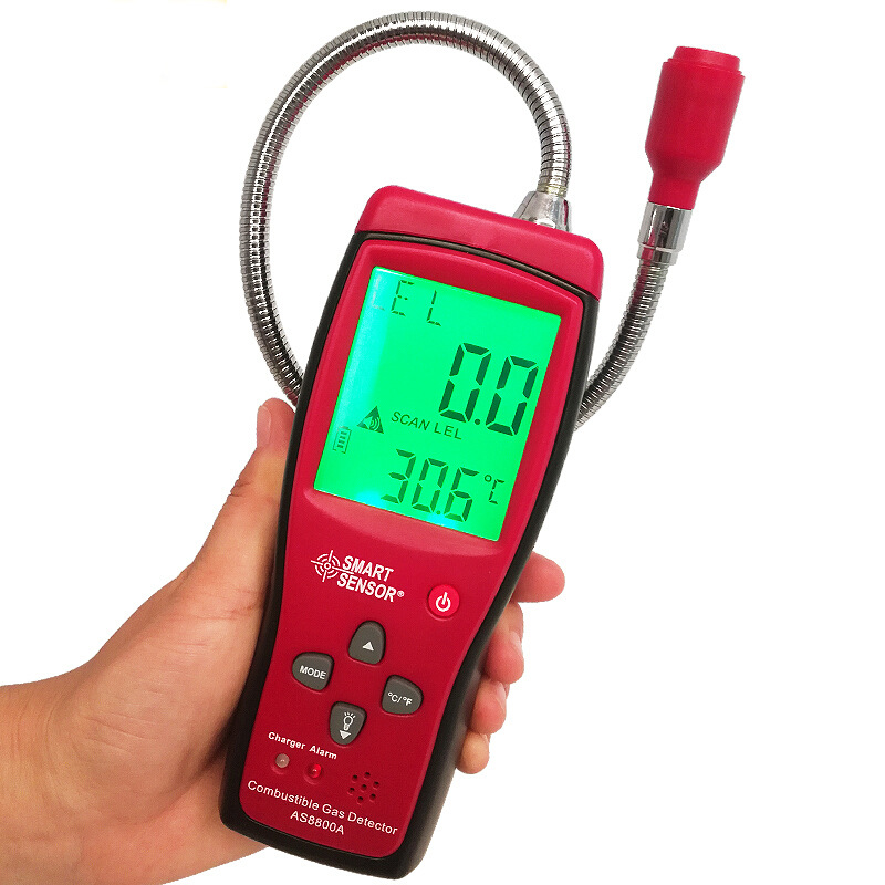 AS8800A Combustible Gas Leak Detector Natural Gas Coal Gas Methane Toxic Gas Tester Air Quality Monitor Analyzer