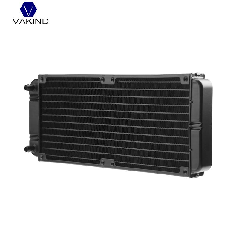 VAKIND 240mm 12-Tube Aluminum Computer Water Cooling Radiator Heat Exchanger Heat Sink Heatsink With Screw For Laptop Desktop jeyi cooling warship copper m 2 heatsink nvme heat sink ngff m 2 2280 aluminum sheet thermal conductivity silicon wafer cooling