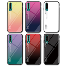 Gradient Tempered Glass Phone Case For Huawei P30 Plus Luxury Colorful Cover Lite Shell Coque Capa P30+