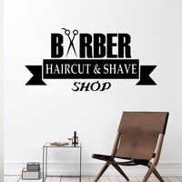 Funny barber shop  Wall Sticker Wall Decal Sticker Home Decor For Children's Room Living Room Wall Decoration
