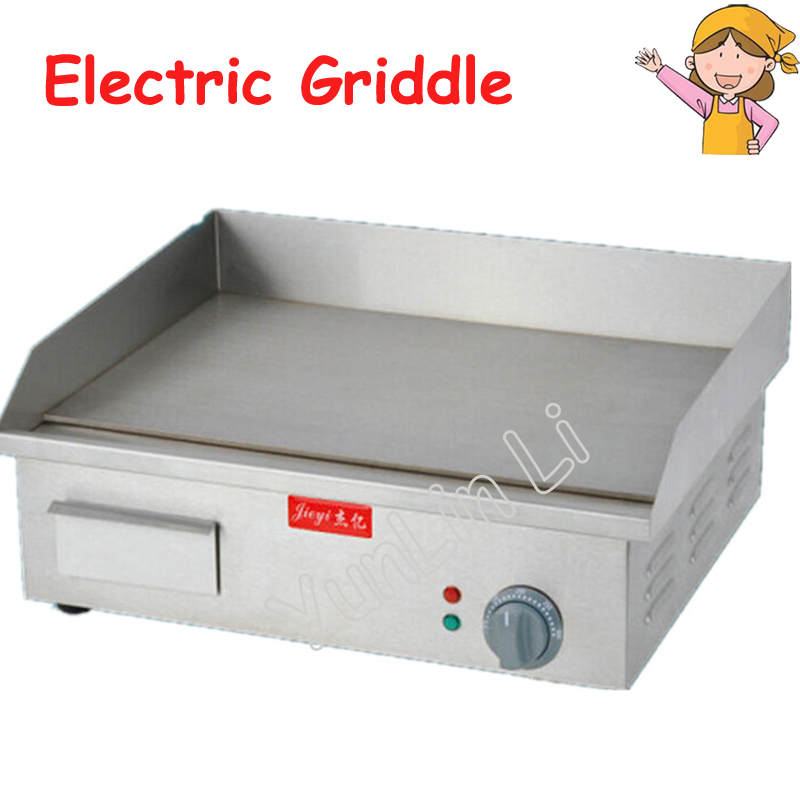 Stainless Steel Flat and Grooved Electric Griddle Toast Grill Machine for Party Picnic FY-818A stainless steel electric grill griddle teppanyaki griddle dorayaki grill machine with double temperature controllers