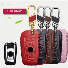 Genuine Leather Car Smart Key Case Cover For Bmw E39 E46 F30 E30 E34 E36 E60 E90 F20 X3 E83 Z3 E38 Key case wallet Accessories