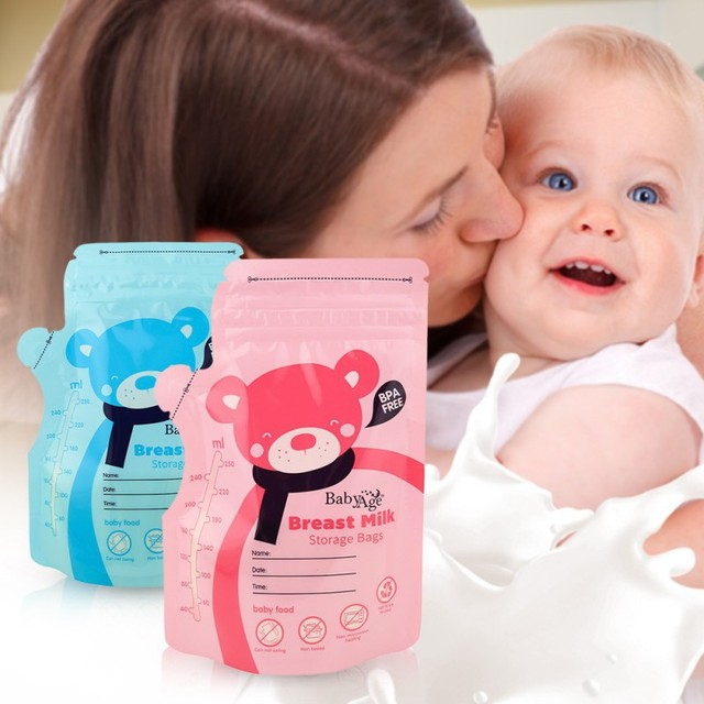30Pcs/Pack 250ml Safety Baby Food Storage Breast Milk Storage Bags Freezer Big armazenamento de leite almacenaje leche new