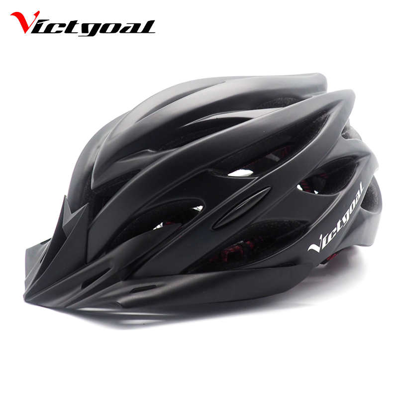 VICTGOAL Matte Black Bicycle Helmets Men Women Ultralight Helmet Mountain Road Bike Integrally Molded Cycling Helmets
