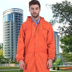 Image 2 - رجل عامل مصلح آلة إصلاح السيارات ميكانيكا عامل منجم كولير جودة عالية البرتقال المآزر ملابس العمل وزرة الحرة آخر