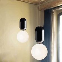 JAXLONG Post-Modern Pendant Light Nordic Simple Bedroom Living Room Creative Personality Bar Restaurant Bubble Ball Shape