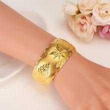 Золотой Африканский браслет Дубай iindia для женщин ювелирные