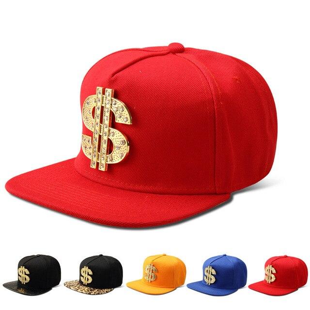 992f320a9b199 Moda Bling Do Diamante EUA Dólar Sinal   Dinheiro Snapback hip hop chapéus  das mulheres dos