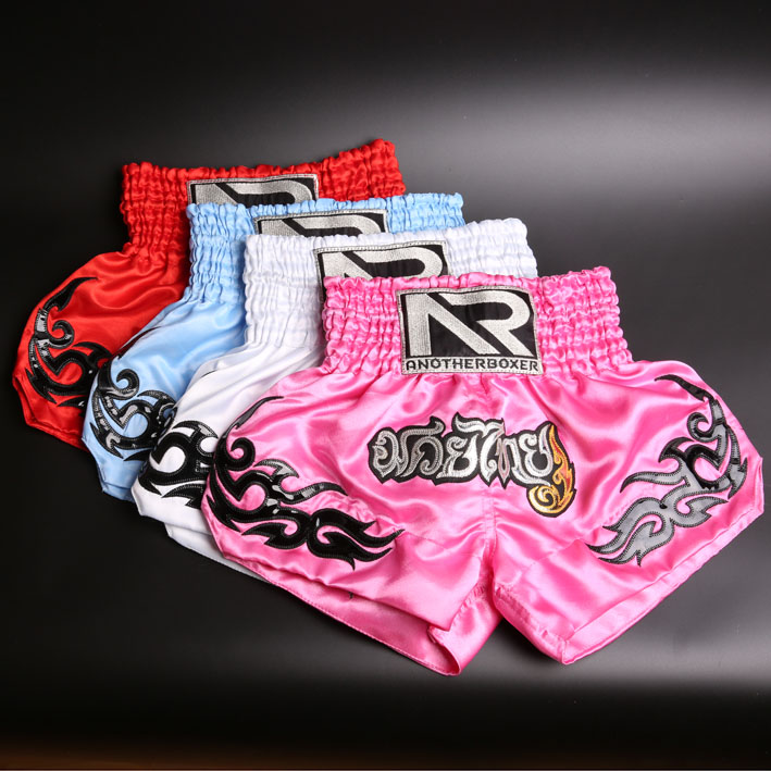 цена на Kids Boxing Pants Printing MMA Shorts Fight Grappling Shorts Kick Gel Boxing Muay Thai Pants Thai Child Boxing Trunks