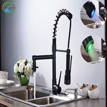 Новый Свет кран Двойной Поворот Носик Кухня Смесители воды Бортике Однорычажный