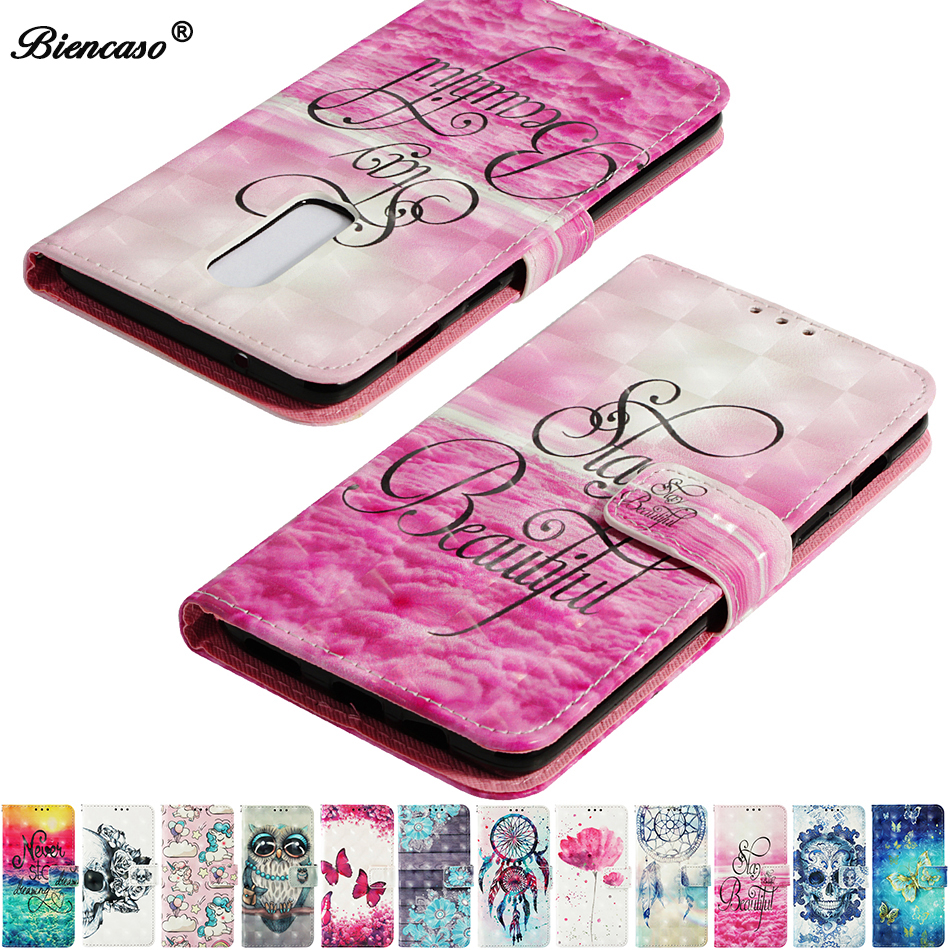 Leather Phone Case For ZTE Blade V9 2018 Case Flip Wallet For OnePlus 6 5T 5 A5010 A5000 Cover Cute Cartoon Back Shell C21(China)