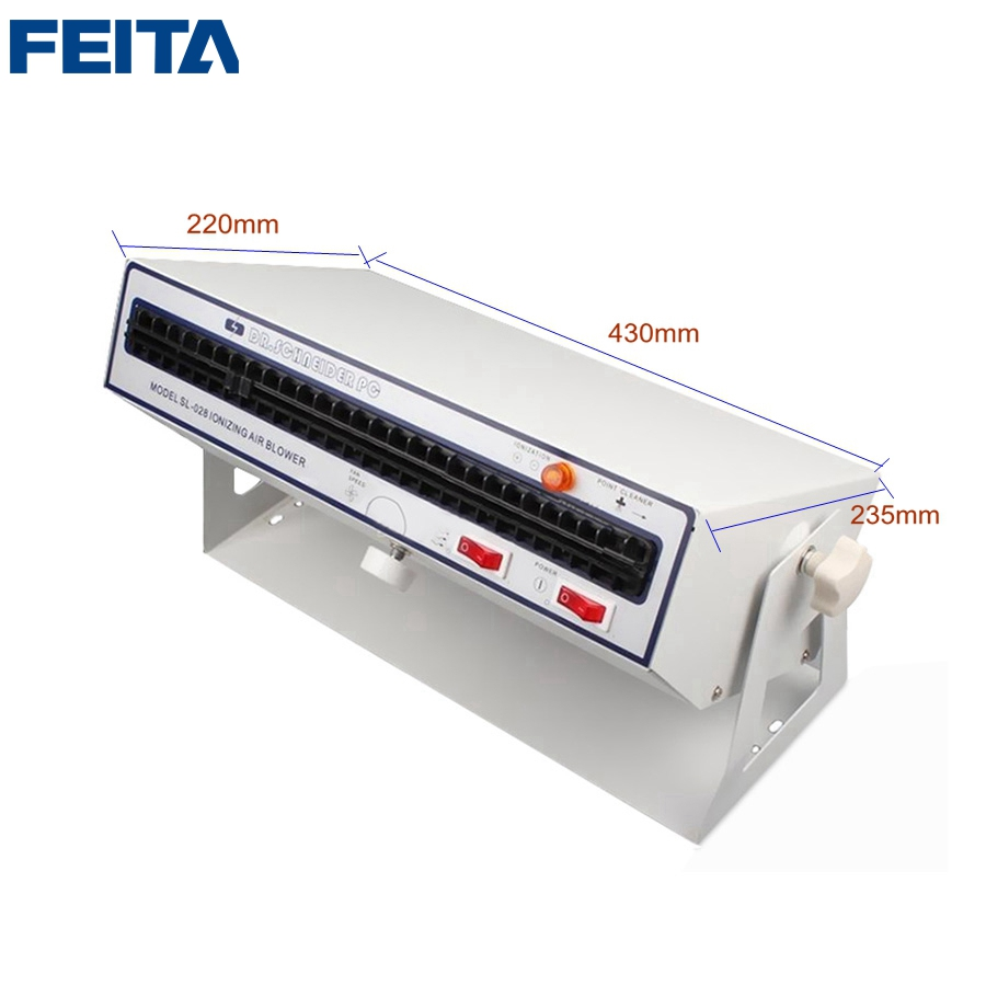 FEITA SL-028 Ionizing Air Blower Anti-static Ion Fan Removes Electrostatic Dusting for Electronic and Medical Equipment feita sl 030b test equipment electrostatic field meter static surface resistance tester with hammers