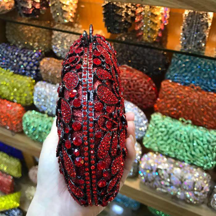 Красный/Шампань/серебро Minaudiere Модные женские вечерние сумочки женские свадебные вечерние клатчи мешок кристалл алмазы мешок, клатч, сумка