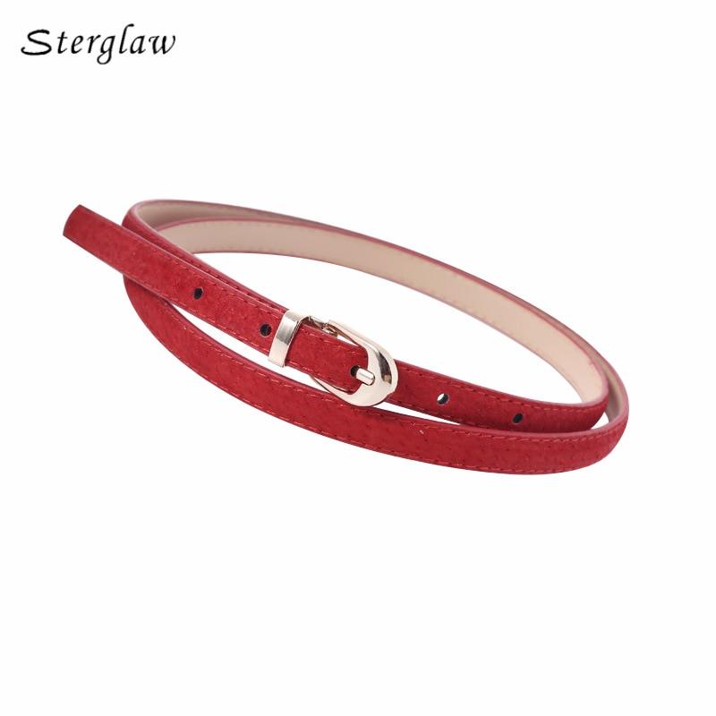 new Frosted pigskin leather belts for women dresses 2019 Hot Products solid jeans belt ceinture femme kemerler sterglaw D218