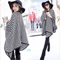 New Winter Women Scarves Houndstooth Poncho Cape Coat Blanket Wrap Muffler Thick Warm Cloak Wool Shawl Plaid