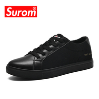 SUROM Mens Shoes Casual New Platform Mesh Breathable Net Sneakers Men Krasovki Black White Shoes Lace up Summer Footwear